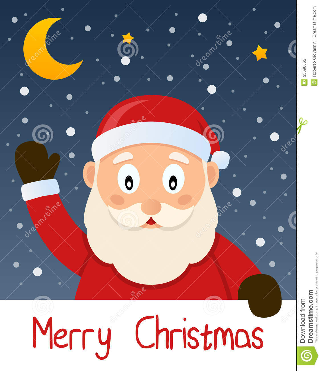 Santa Claus Christmas Greeting Card Stock Vector   Illustration of     Download comp
