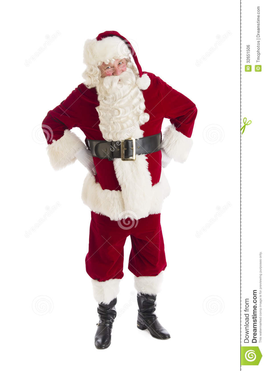 Santa Claus Standing With Hands On Hips Royalty Free Stock