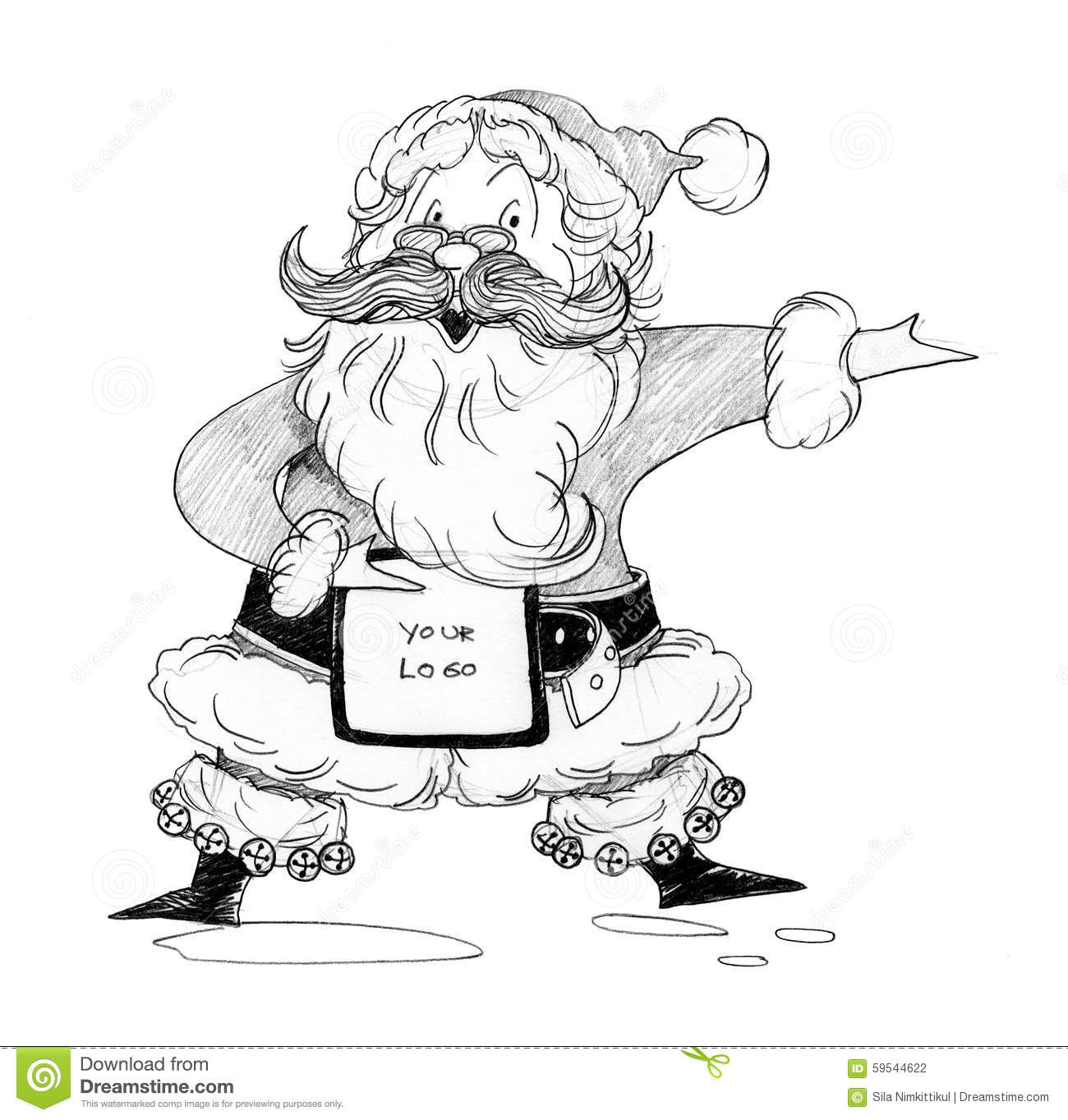 Santa Claus Welcome Acting Stock Illustration