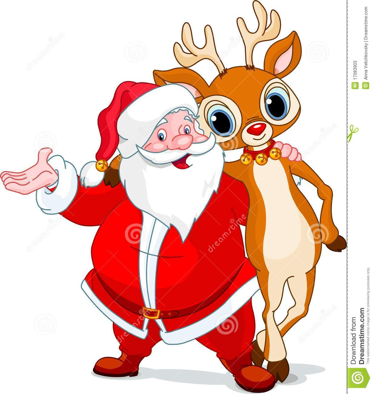 santa and his reindeer rudolf stock photos image 17083903