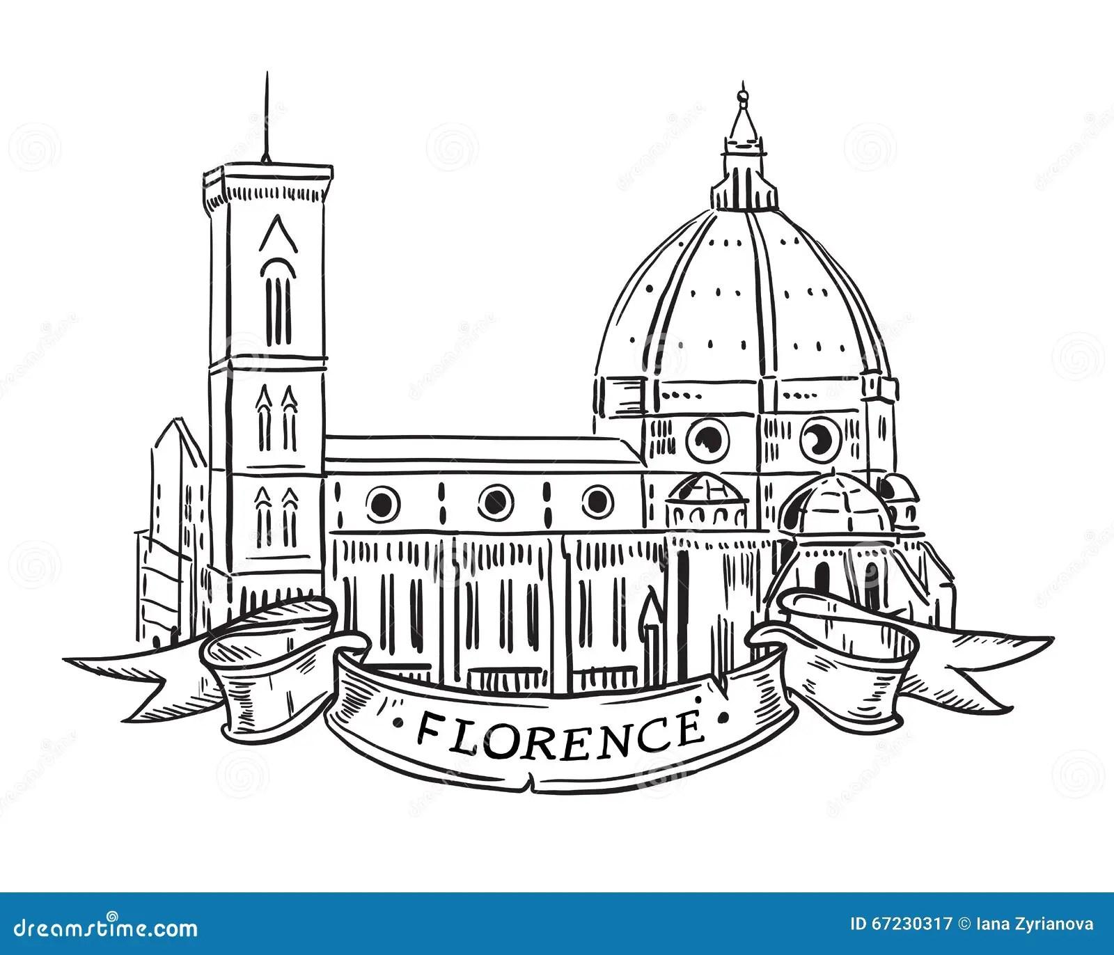 Santa Maria Del Fiore Florence Stock Vector