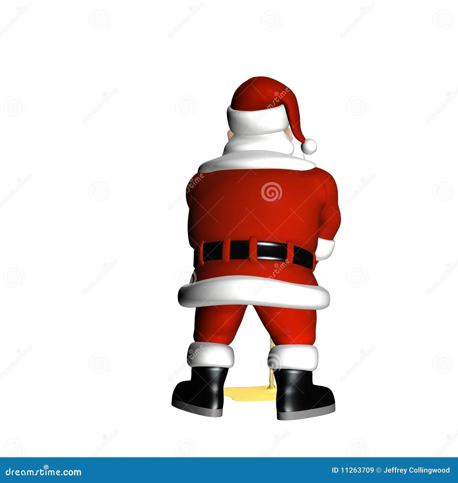 Santa Peeing Royalty Free Stock Images Image 11263709