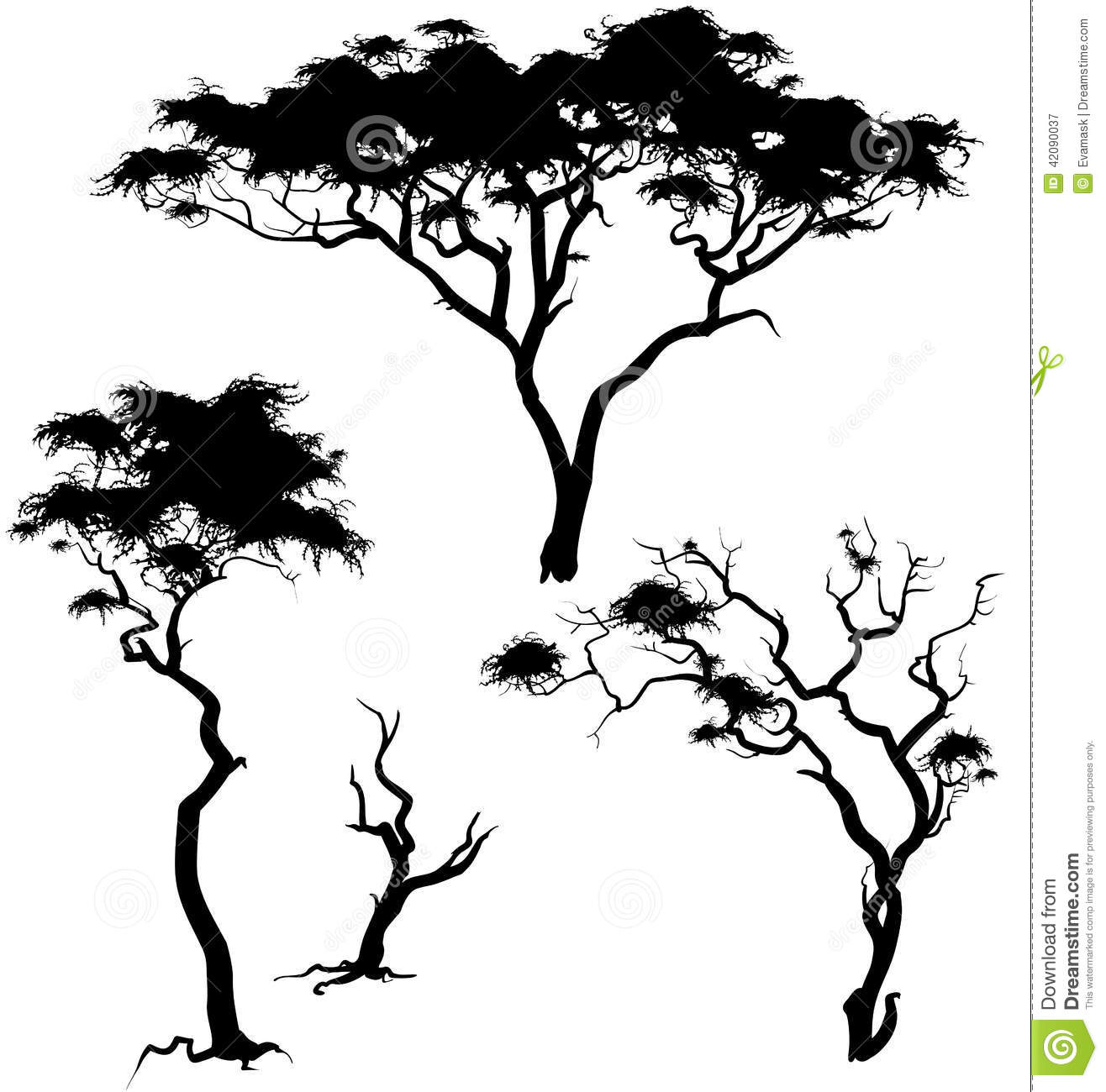 Savanna Trees Stock Vector Illustration Of Plant Tree