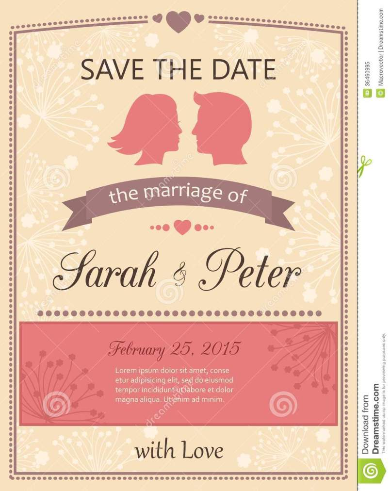 Save The Date Wedding Invitations Free Inviviewco - Save the date wedding cards template free
