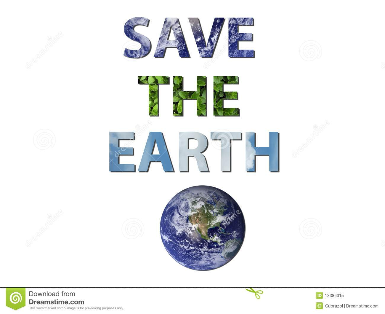 Save The Earth Stock Illustration Illustration Of Planet
