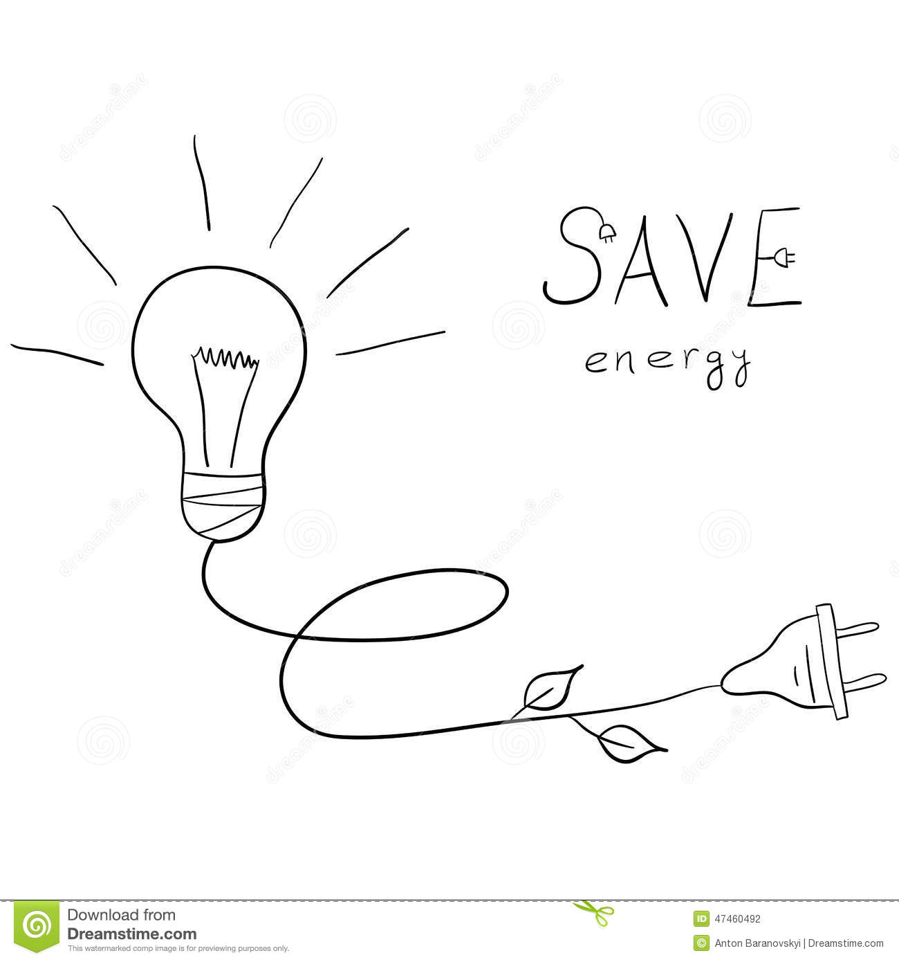 Save Energy Stock Illustration Image Of Word Poster