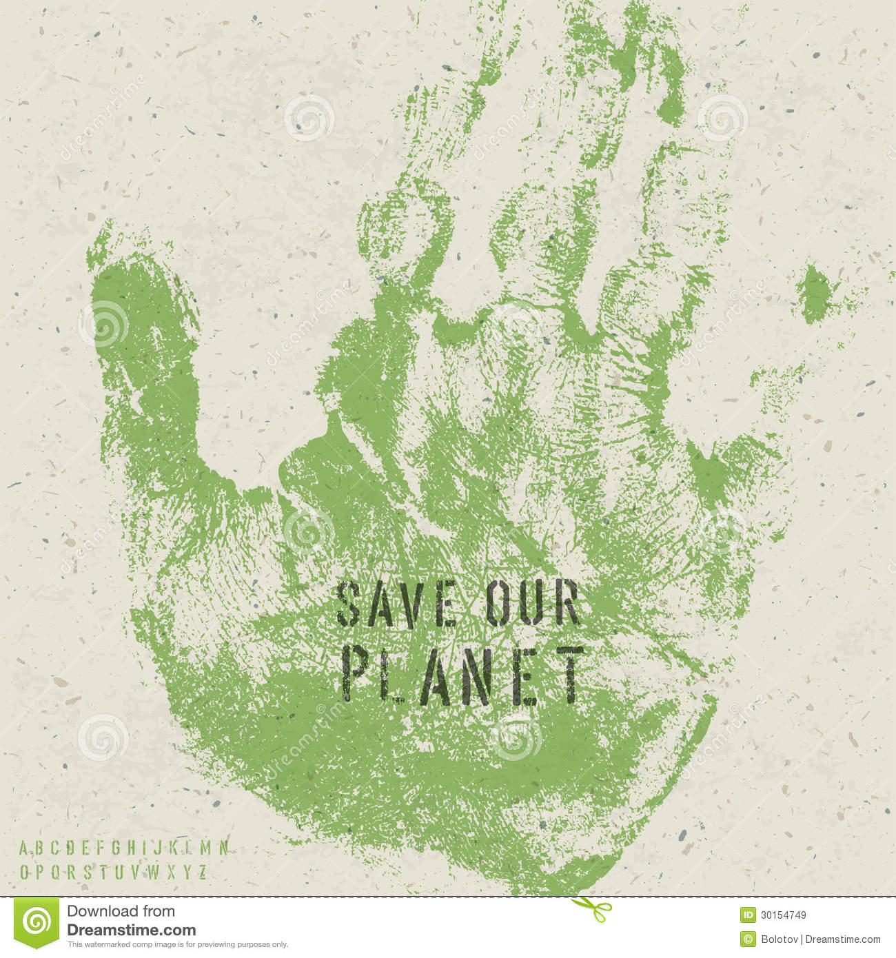 Save Our Planet Poster Royalty Free Stock Images