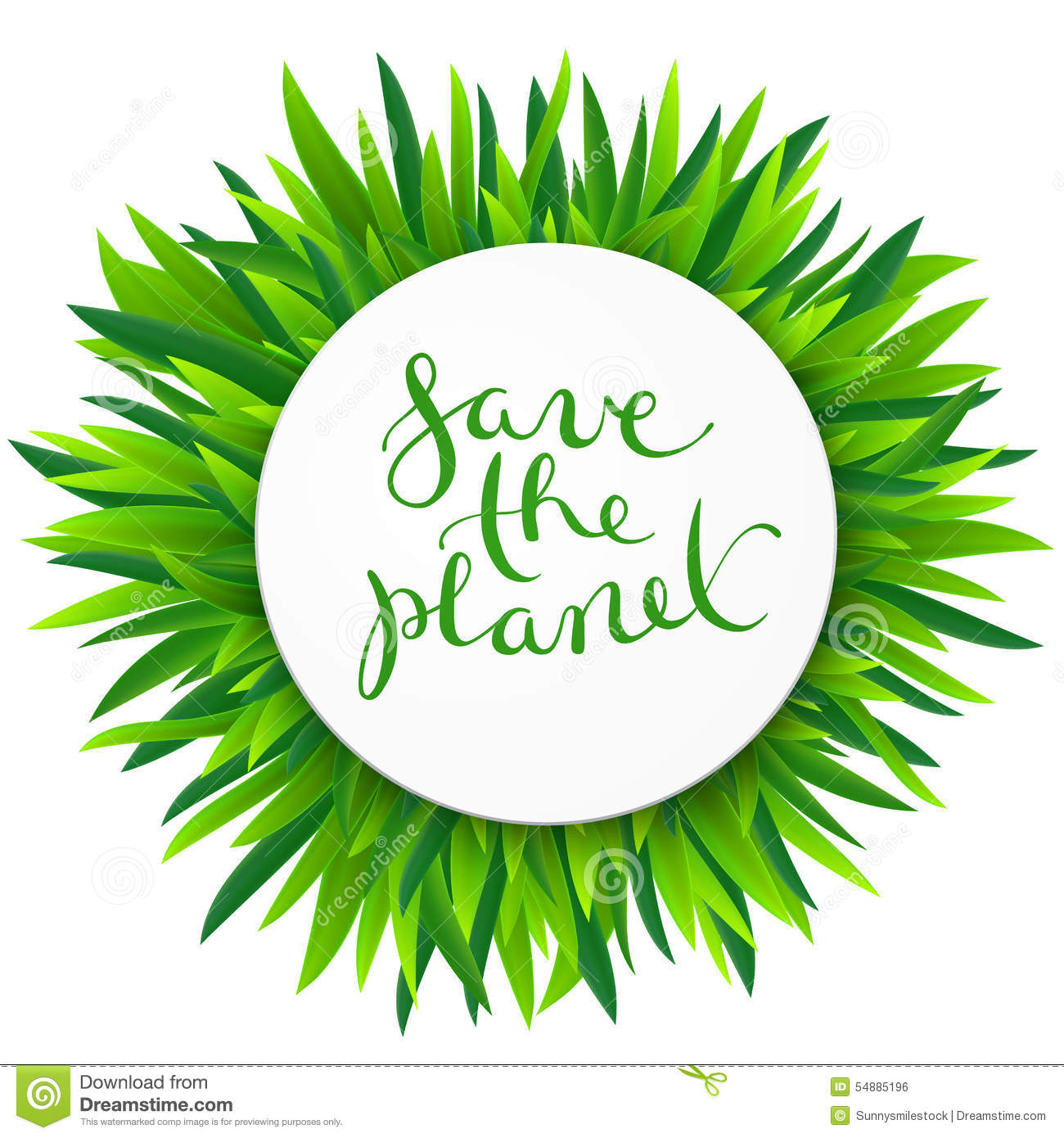 Save The Planet Vector Illustration Stock Vector