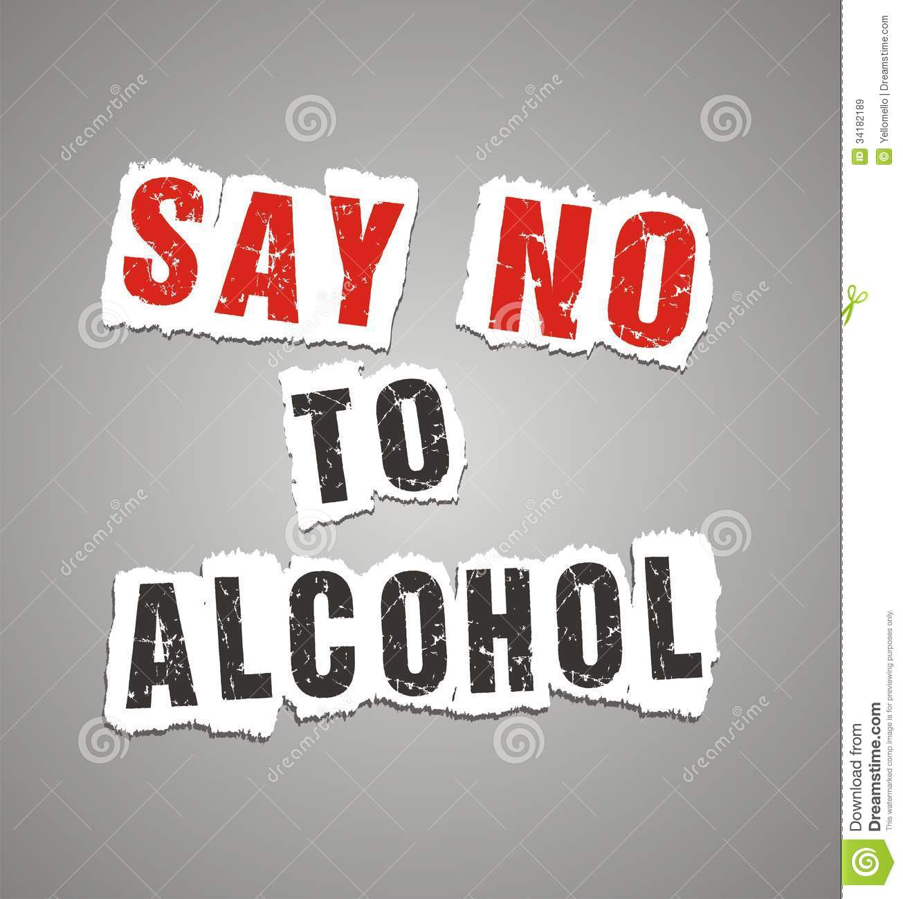 Say No To Alcohol Poster Stock Illustration Image Of Poster