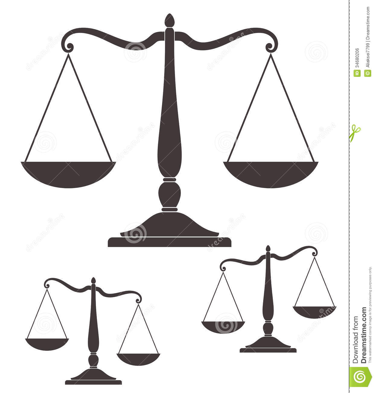 Scale Stock Vector Illustration Of Justice Sign Vintage