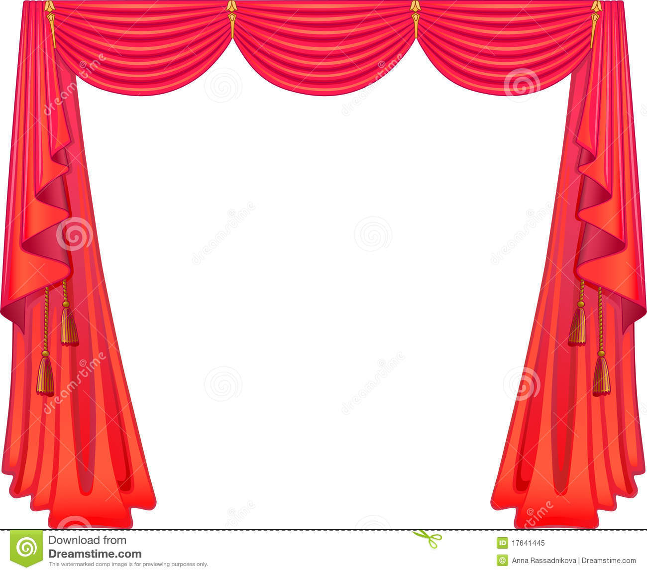 Scarlet Curtains Stock Vector Illustration Of Background