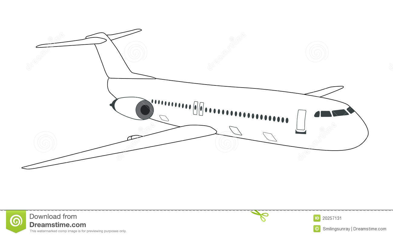 Schematic Airplane Stock Vector Illustration Of Airplane