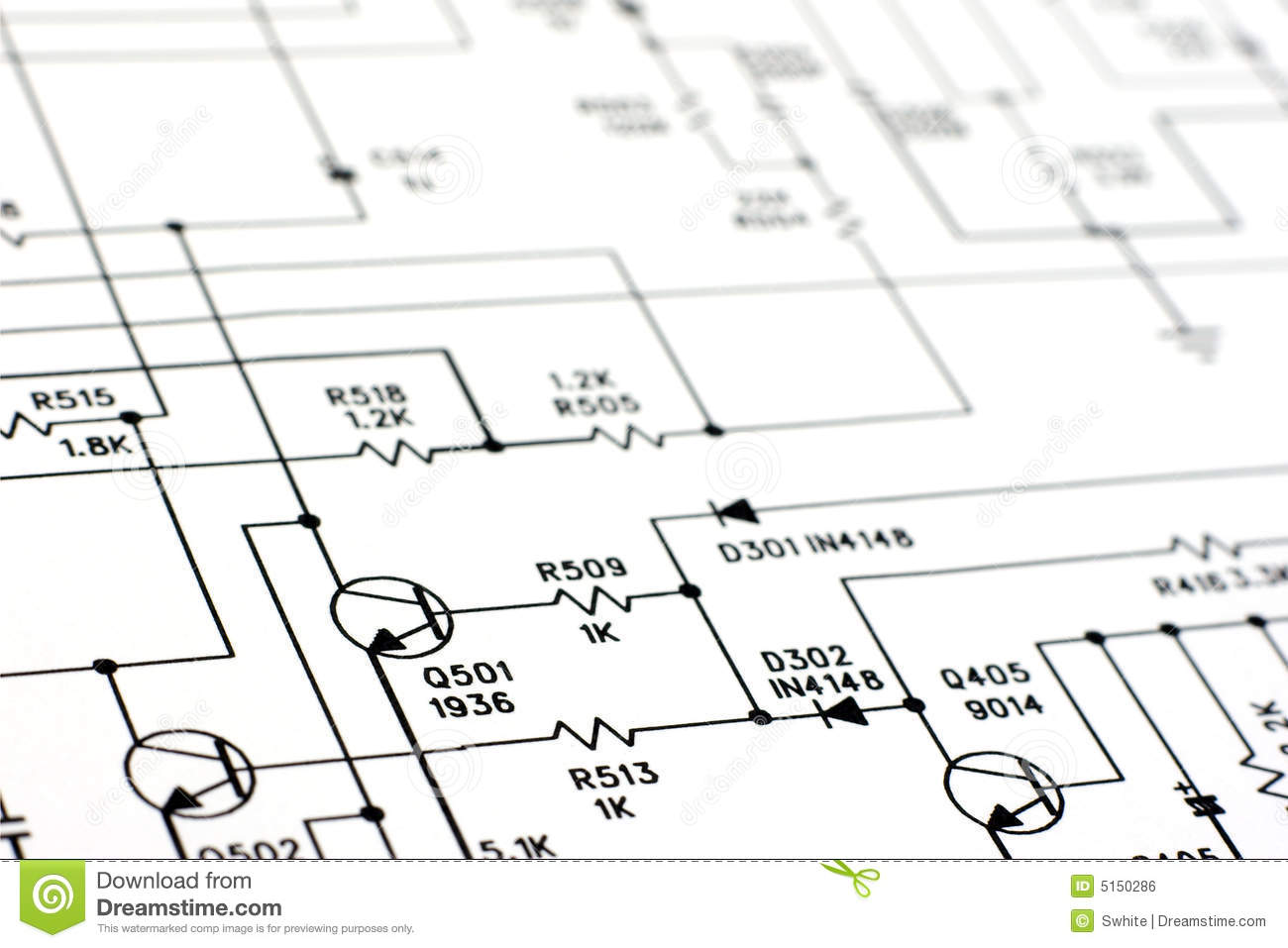 Schematic Diagram Stock Photo Image Of Tech Industry
