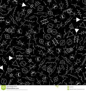 Schematic Symbols In Electrical Engineering Pattern Eps10 Stock Image  Image: 36093001
