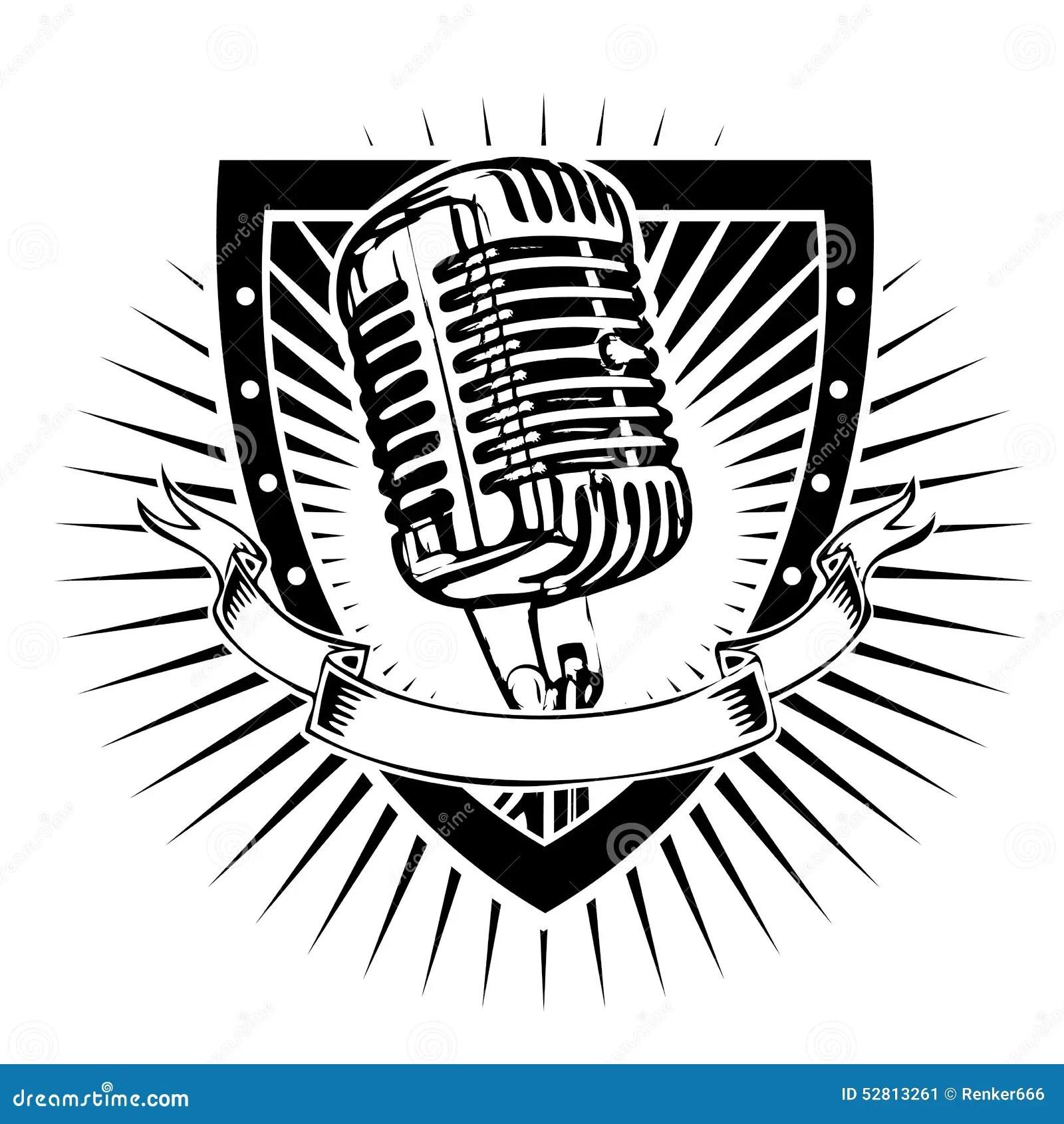 Schermo Del Microfono Illustrazione Vettoriale