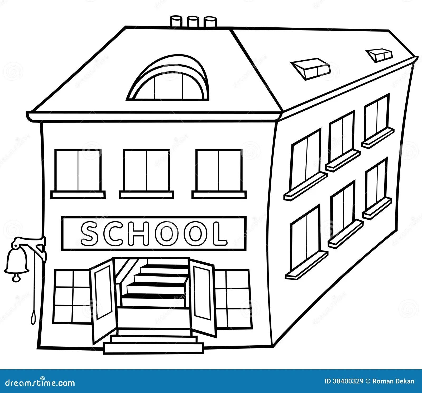 School Vector Illustratie Illustratie Bestaande Uit Getrokken