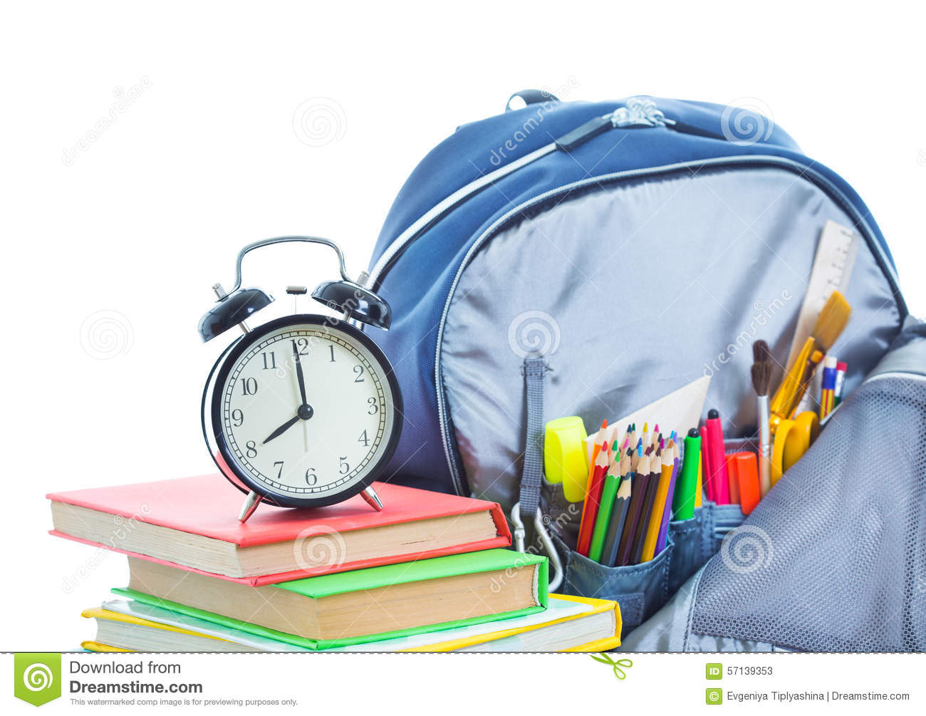 School Bag Stock Image Image Of Clay Open Color