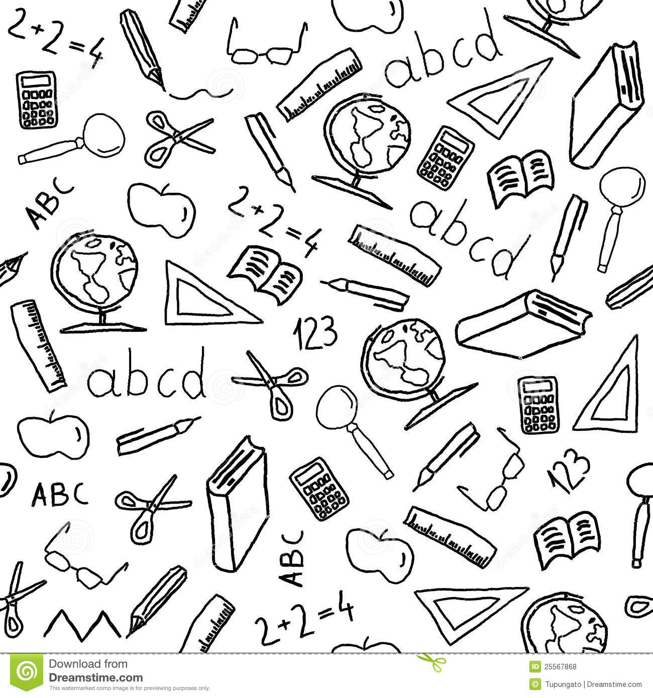 School Objects Royalty Free Stock Photos