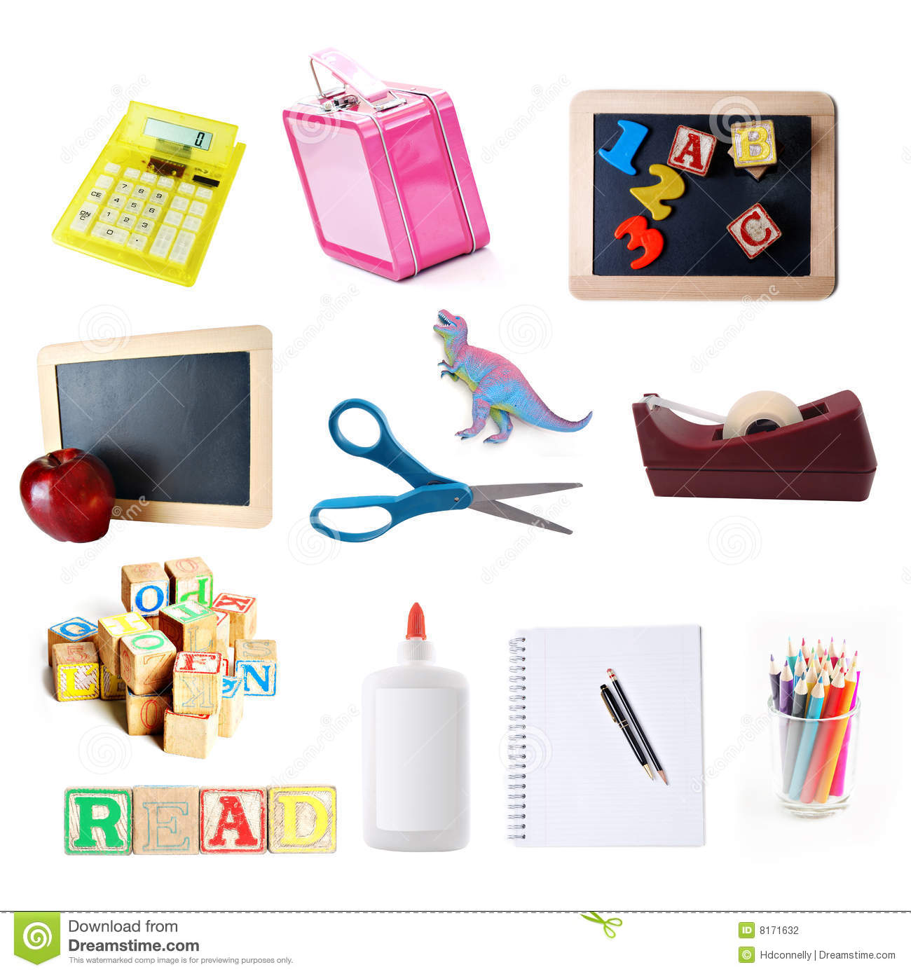 School Objects Collection Stock Photography
