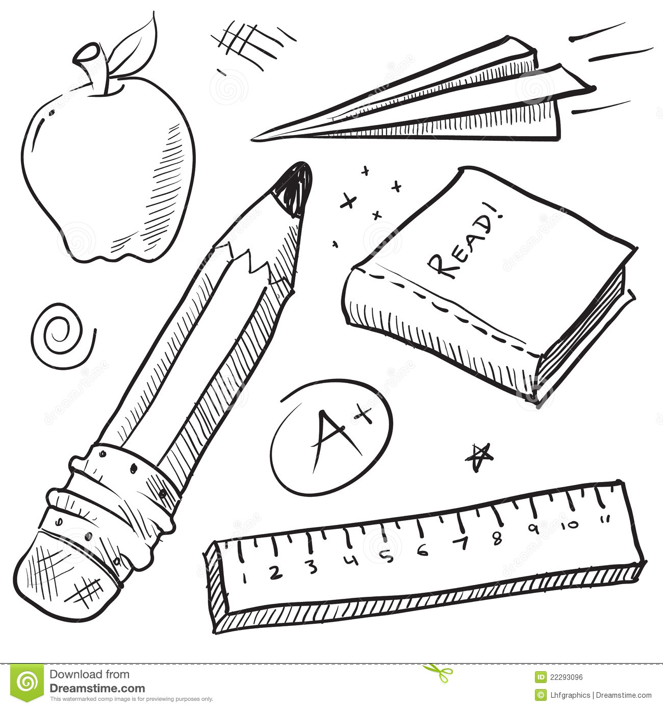 School Objects Illustration Royalty Free Stock Image