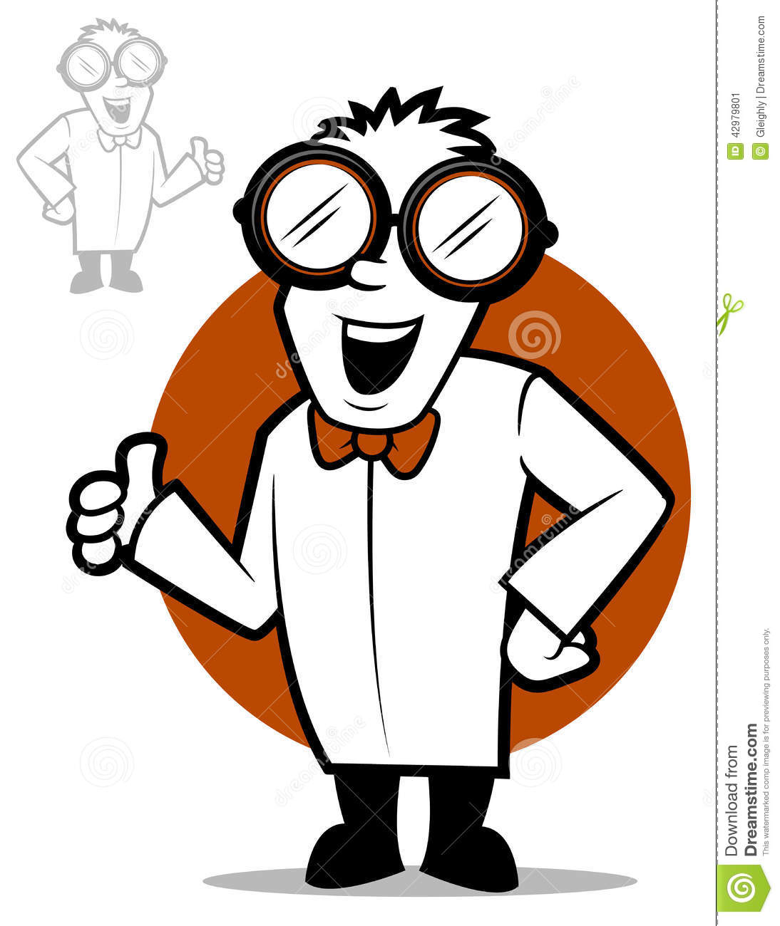 Science Character Stock Vector