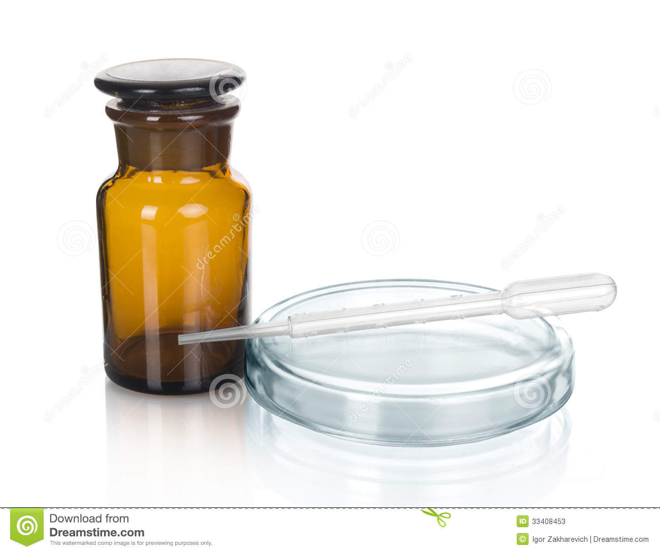 Science And Medical Glassware And Test Tube Stock Photos