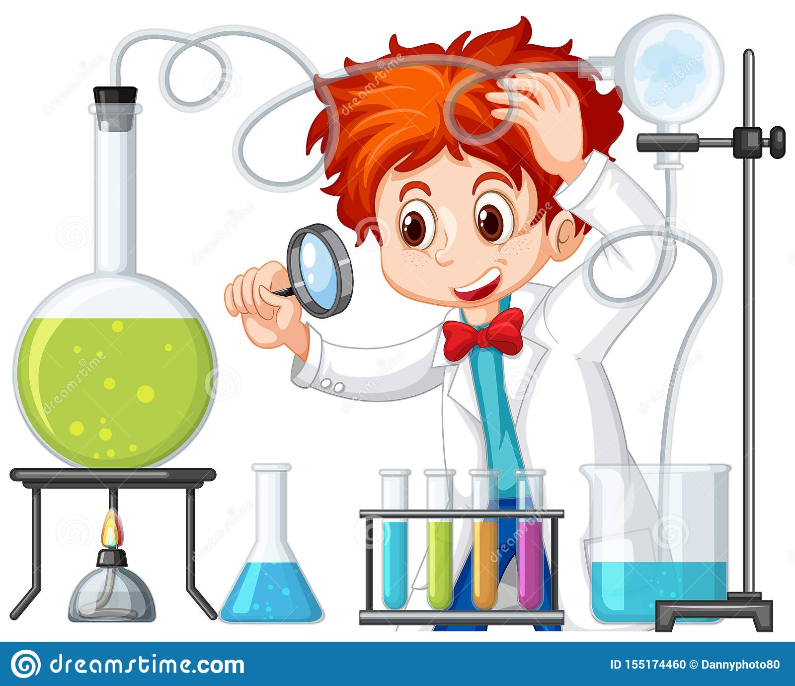 Scientist Working With Science Tools In Lab Stock Vector