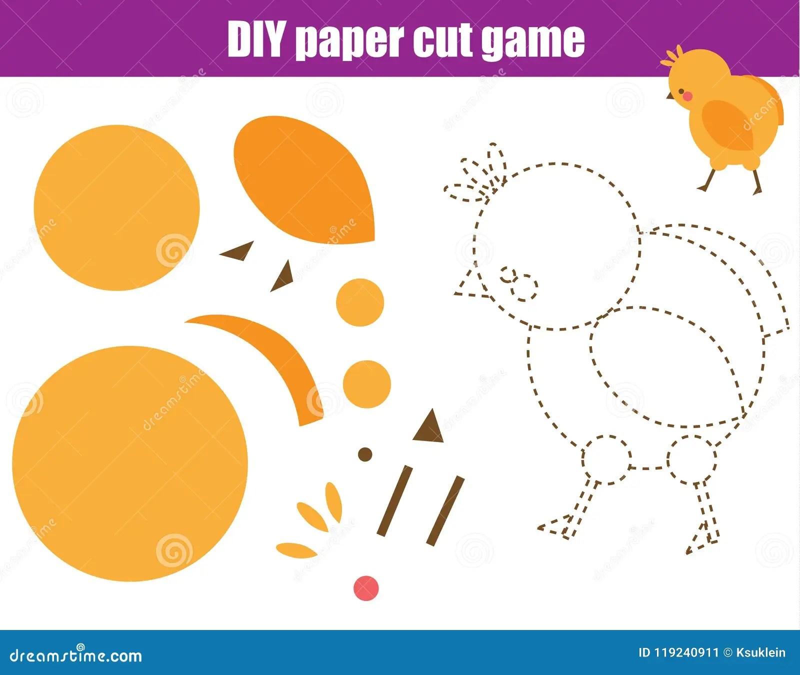 Scissors Practice Educational Game Paper Cutting Activity