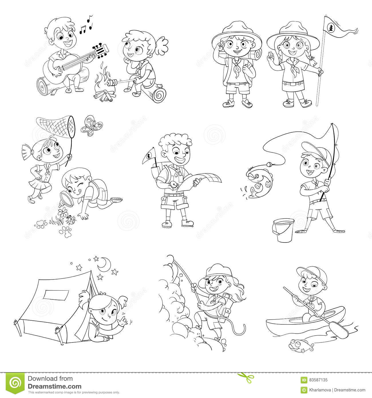 Scout Boy And Scout Girl Stock Vector Illustration Of