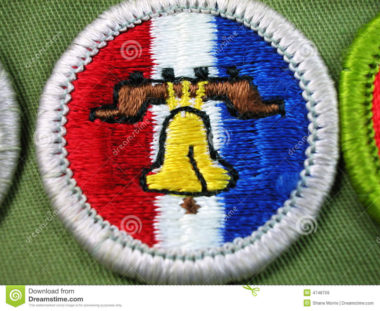 Scout Merit Badge Liberty Bell Stock Image