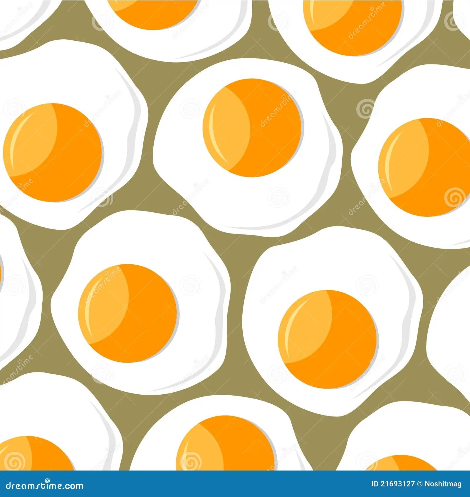 Scrambled Eggs Background Stock Vector Illustration Of