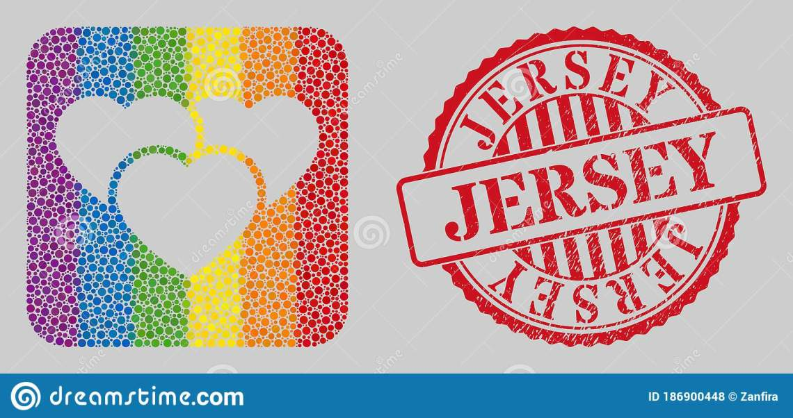 Download Scratched Jersey Stamp Seal And Mosaic Love Hearts Hole ...