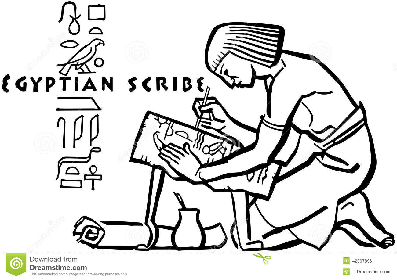 Scribe Egyptien Illustration De Vecteur Illustration Du