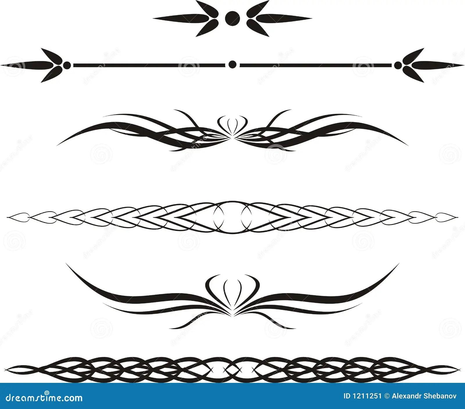 Scroll Cartouche Decor Vector Stock Image