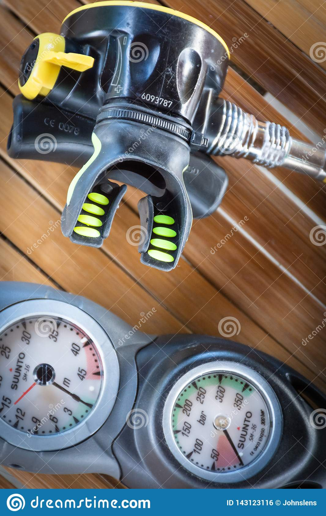 Scuba Diving Equipment Stock Photo Image Of Water Safety