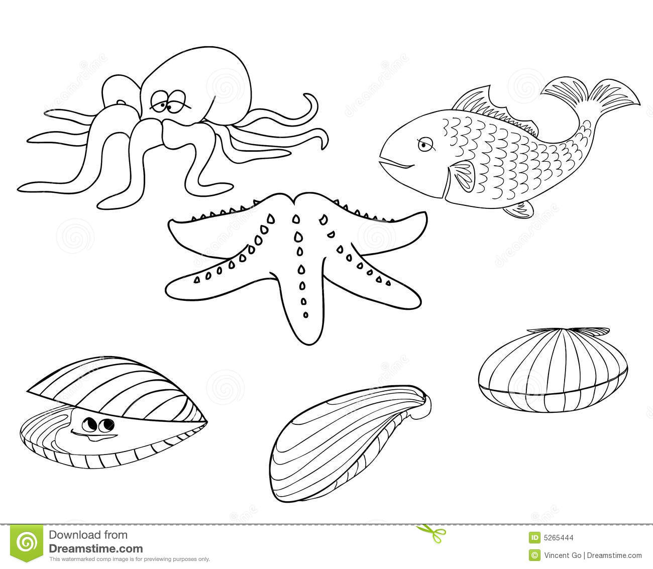 Sea Creatures 1 Stock Images