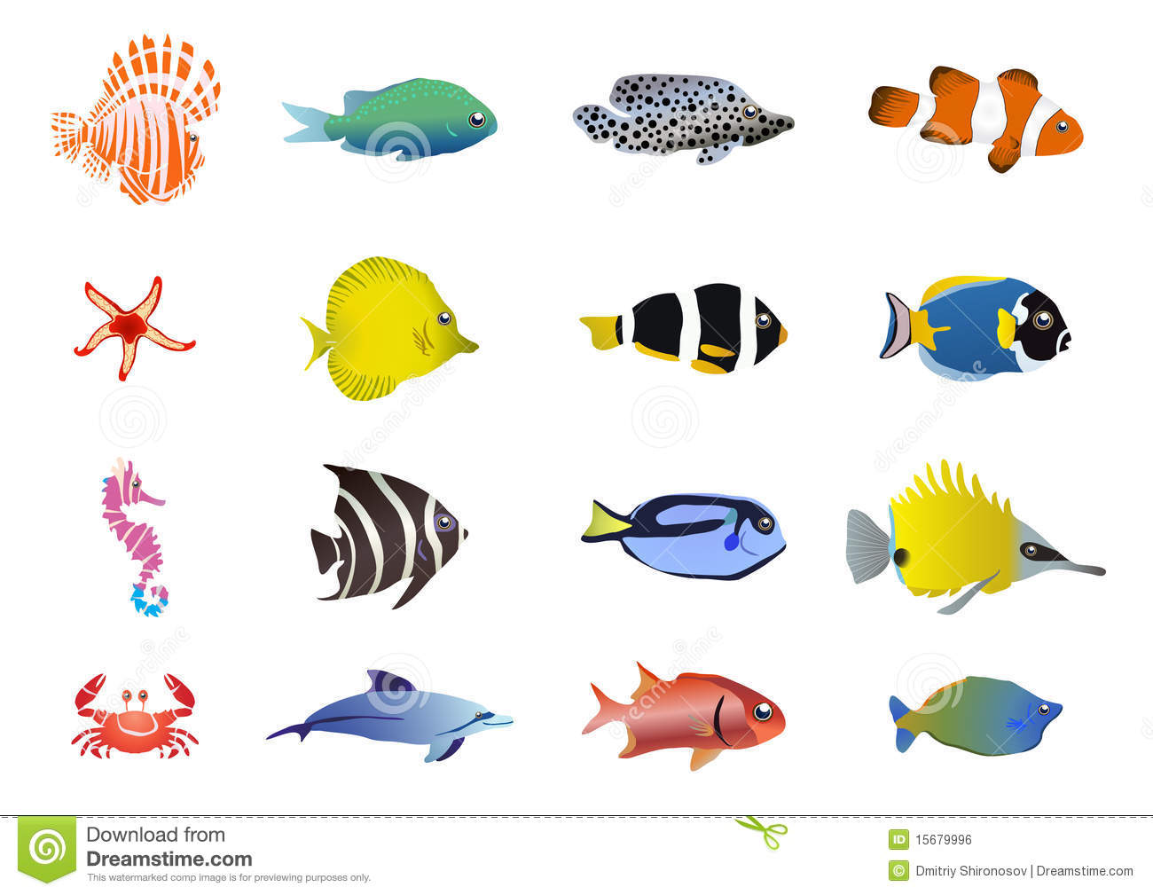 Sea Creatures Stock Illustration Illustration Of Fish