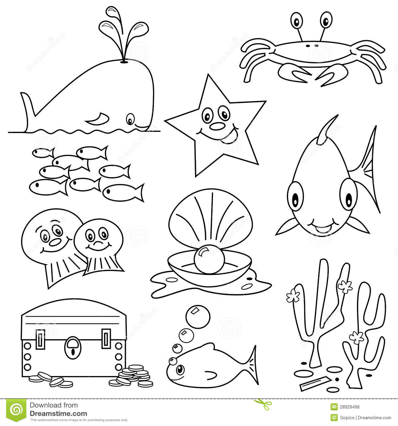 Sea Life Cartoons Royalty Free Stock Image