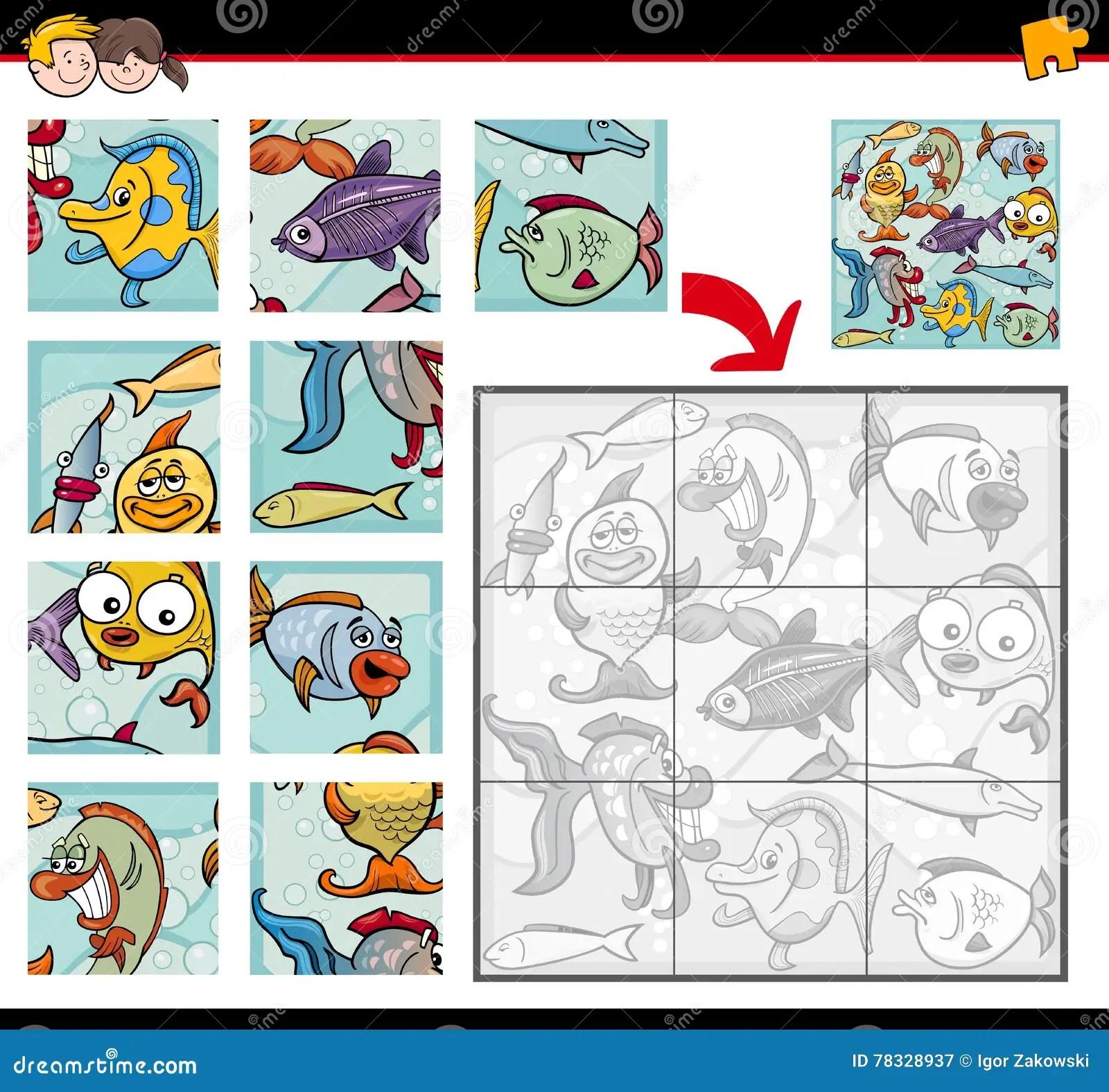 Sea Life Jigsaw Puzzles Stock Vector Illustration Of