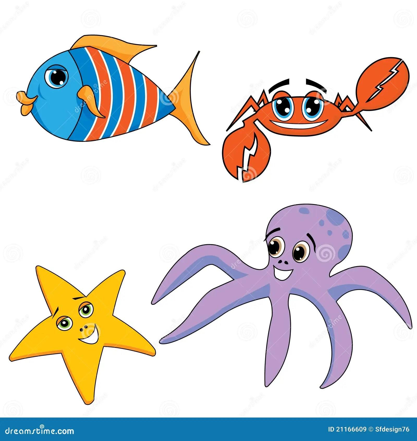Sea Ocean Animals Stock Vector Illustration Of Book
