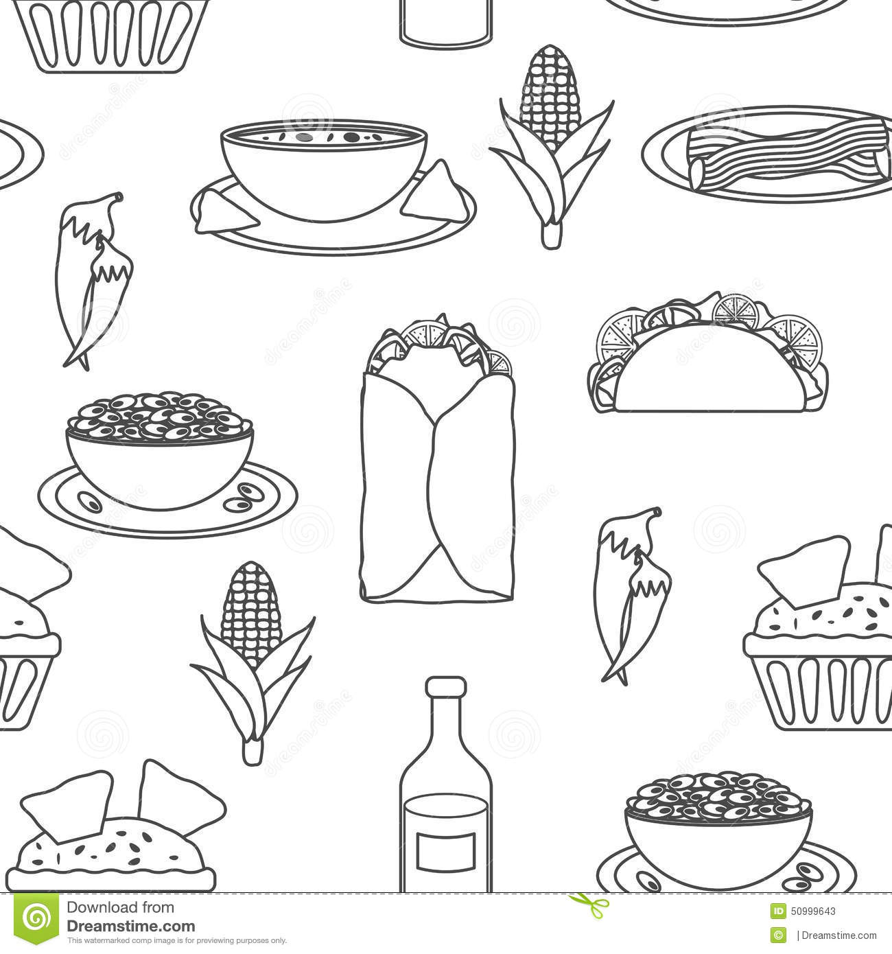 Mexican Food Clipart Black And White