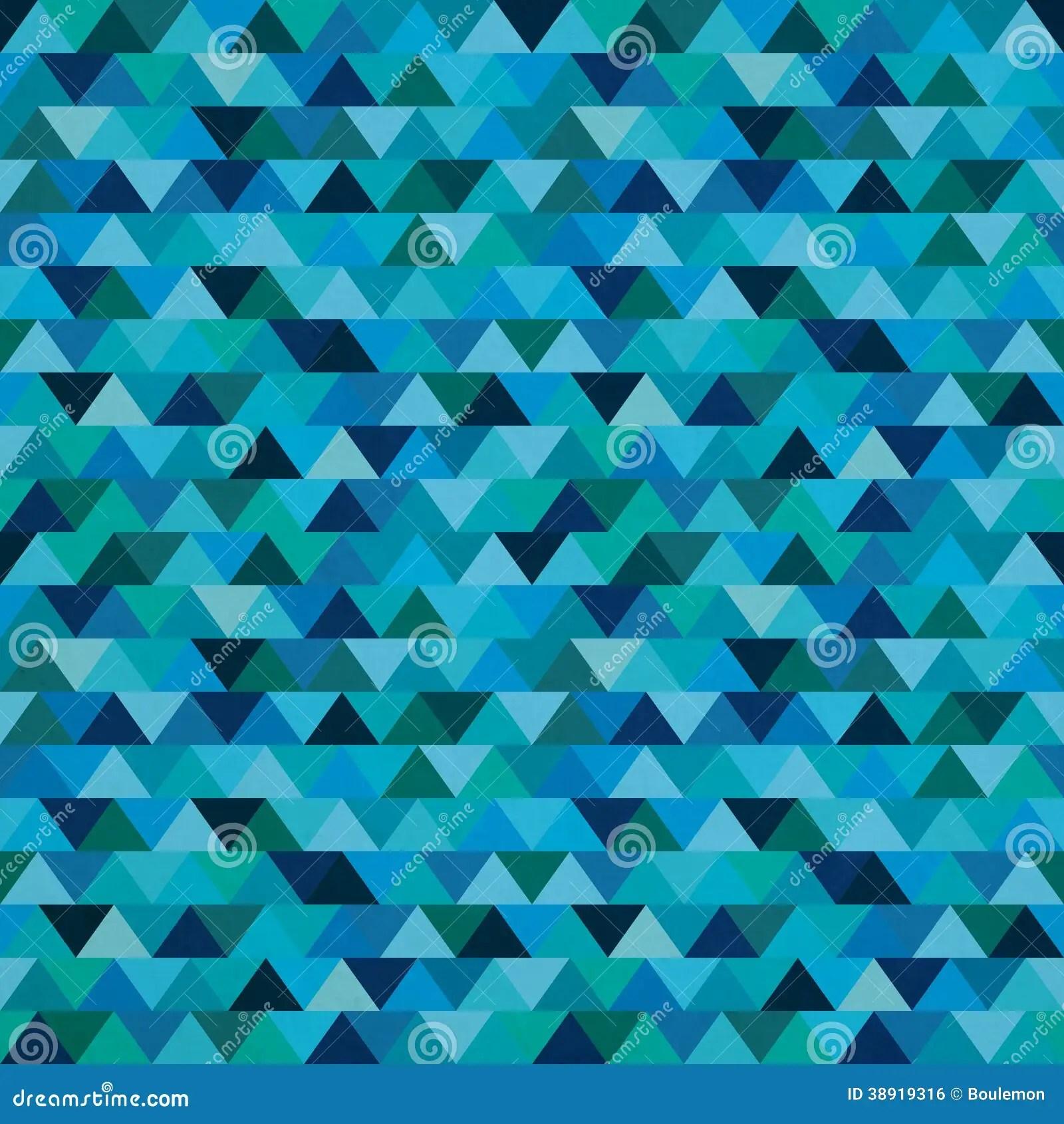 Seamless Blue Zig Zag Triangle Pattern Stock Vector