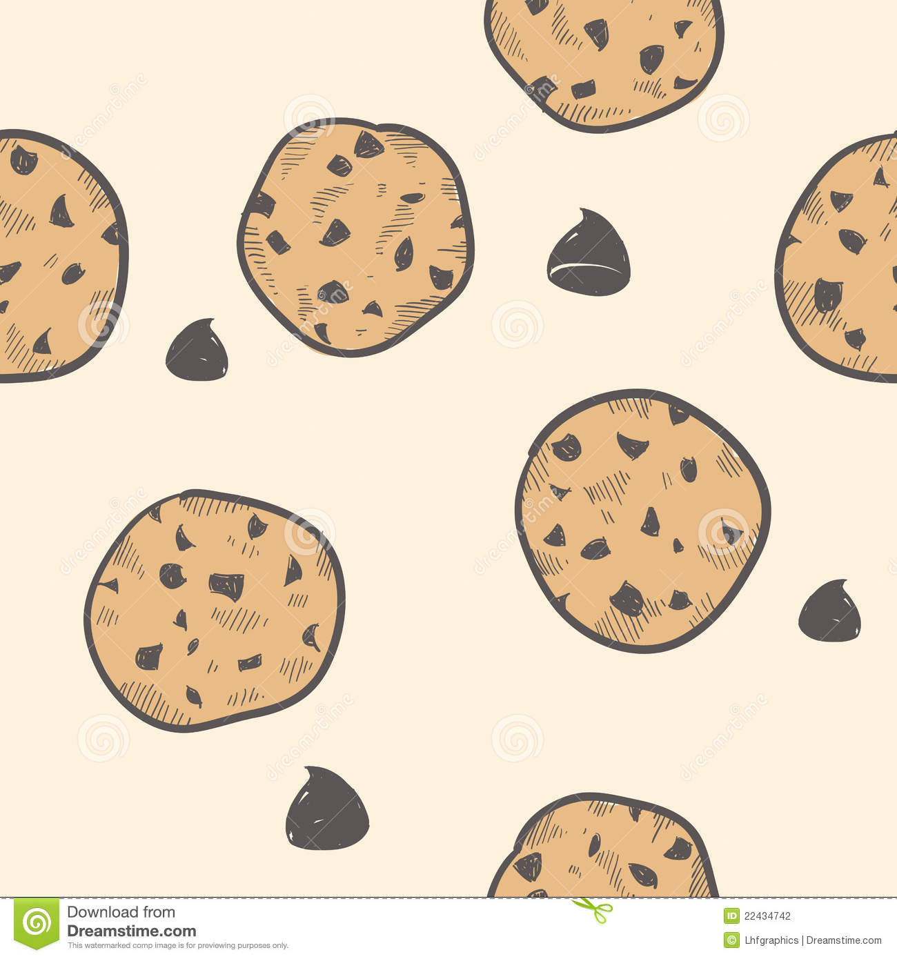 Seamless Cookie Background Stock Vector Illustration Of