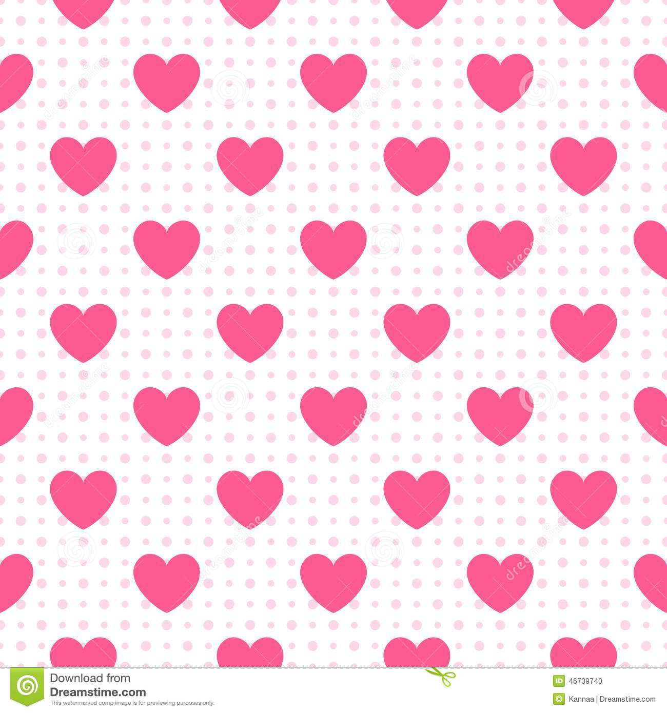 Seamless Geometric Pattern With Hearts Vector Stock