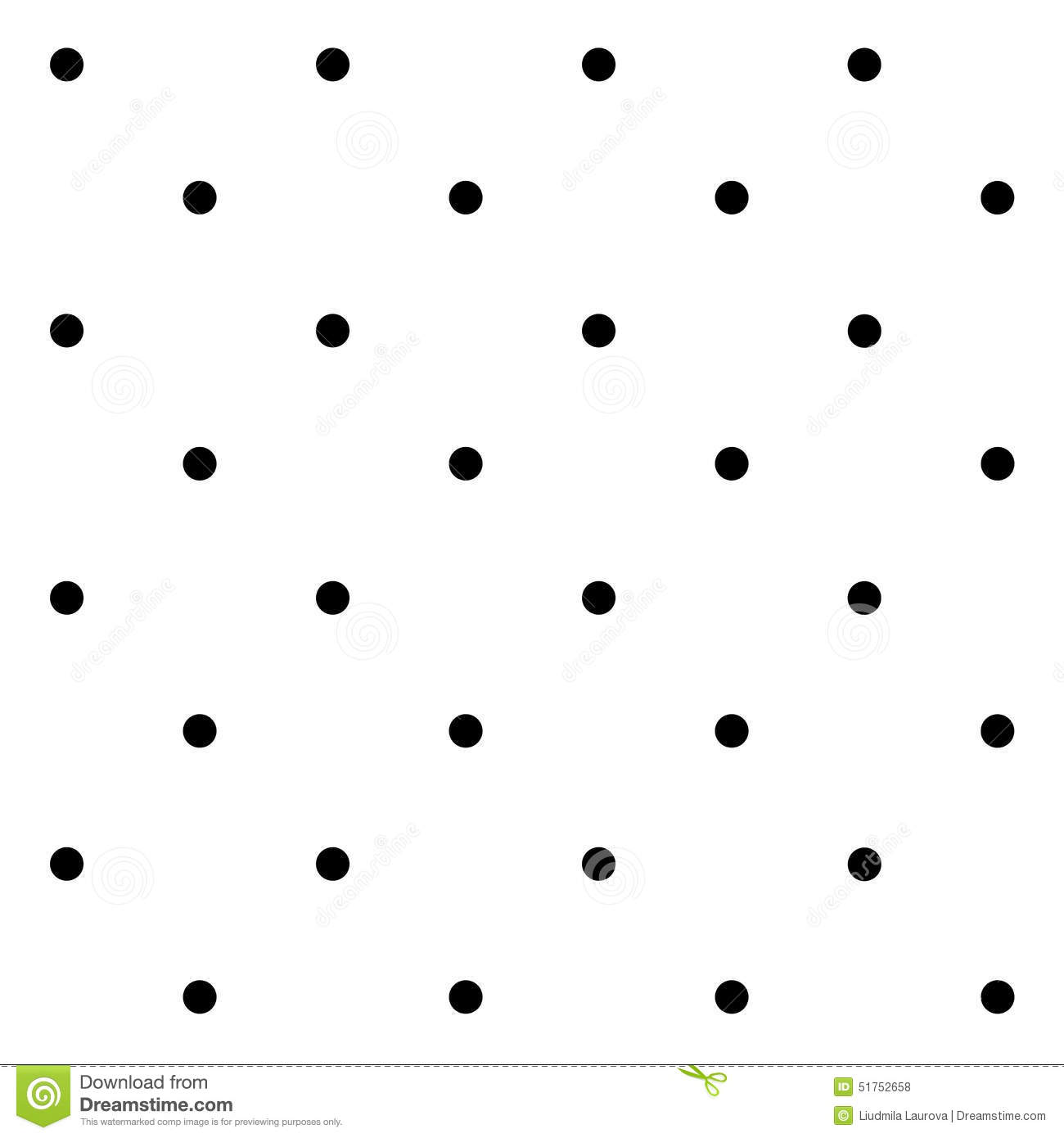 Seamless Geometric Pattern With Polka Dots On A White