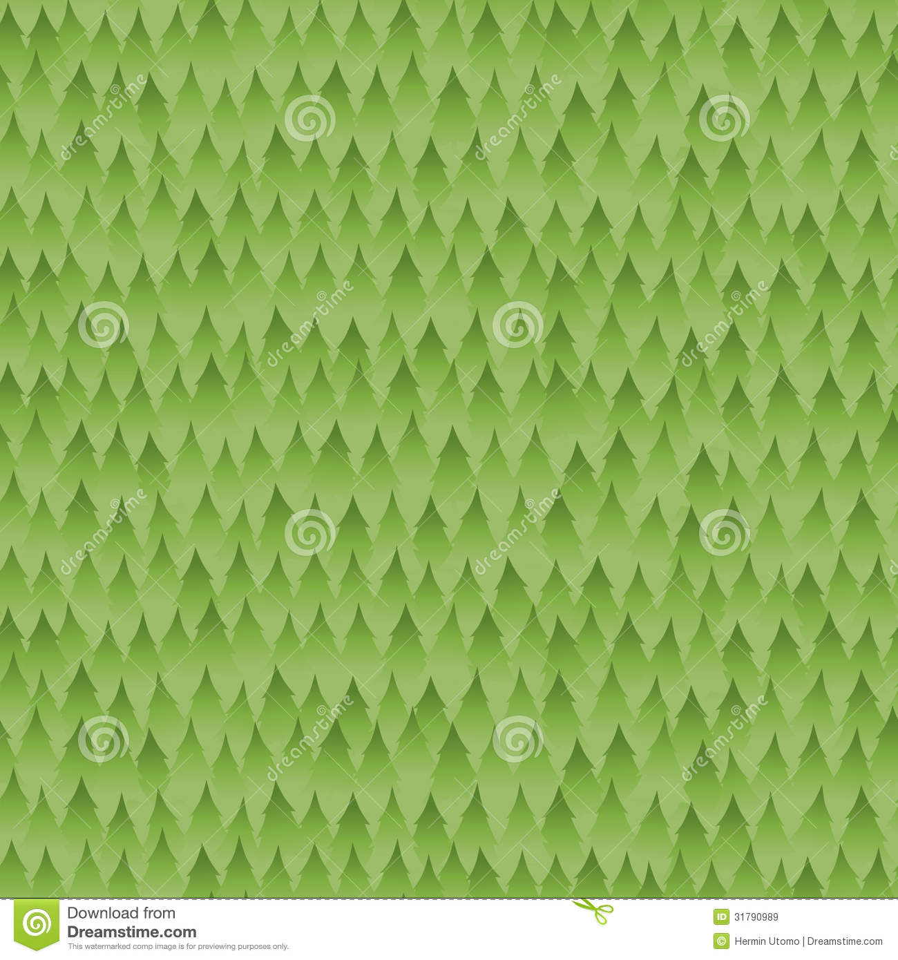 Seamless Green Forest Background Pattern Royalty Free