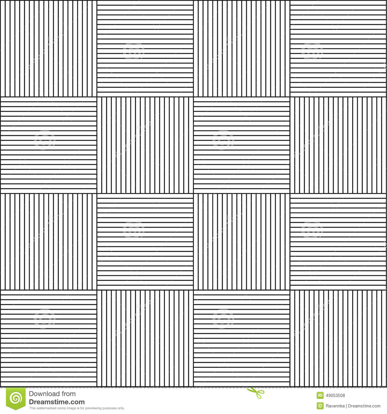 Seamless Horizontal And Vertical Line Pattern Stock Vector