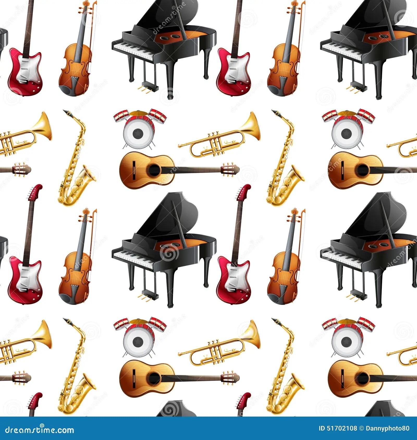 Seamless Instrument Stock Vector