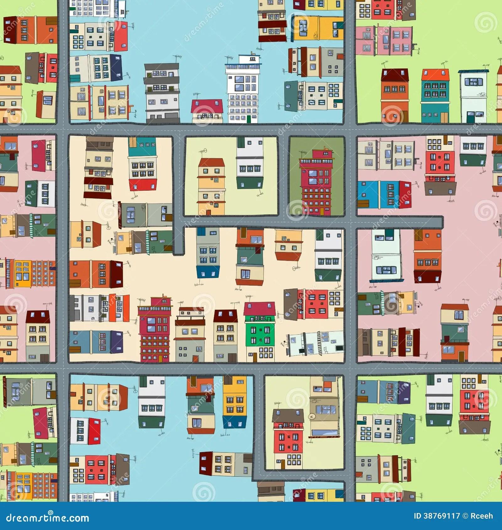 Seamless Map Of City Stock Vector Illustration Of Season