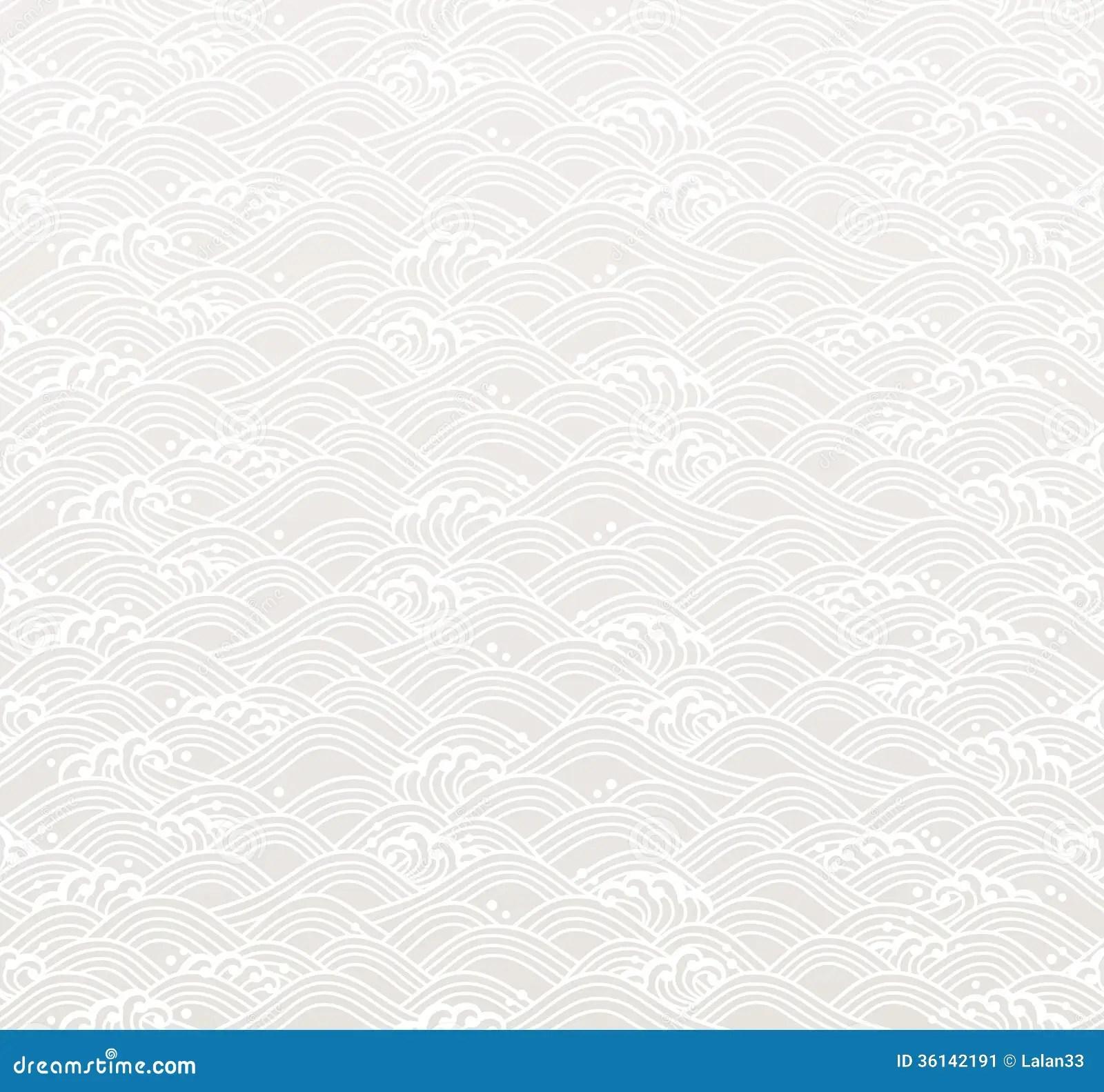 Seamless Ocean Wave Pattern Stock Image